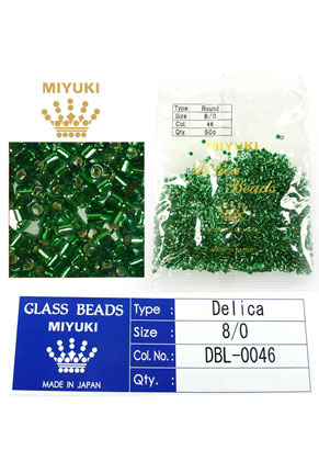 www.sayila.fr - Miyuki Delica Beads rocailles en verre 8/0 3x2,7mm DBL-0046 (1500 pcs.)
