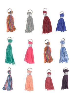 www.sayila.es - Mezcla de borlas de textil con anillo 28x10mm