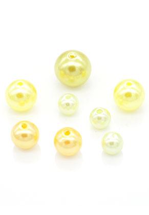 www.sayila.nl - Mix kunststof kralen rond 8-14mm (100 st.)