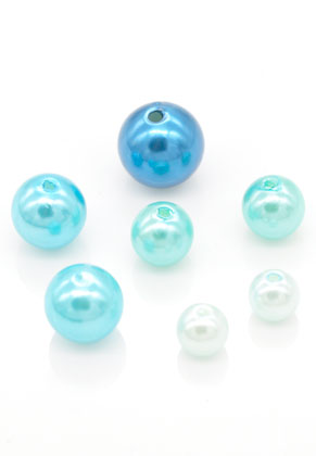 www.sayila.fr - Mélange de perles en matière synthétique ronde 8-14mm (100 pcs.)