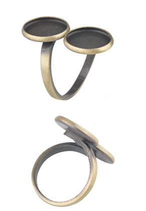 www.sayila.com - Metal fingerring Ø 16,5mm with settings for 12mm flat backs