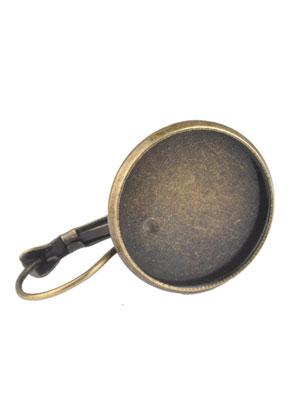 www.sayila-perles.be - Dormeuses en métal 32x20mm pour 18mm cabochon