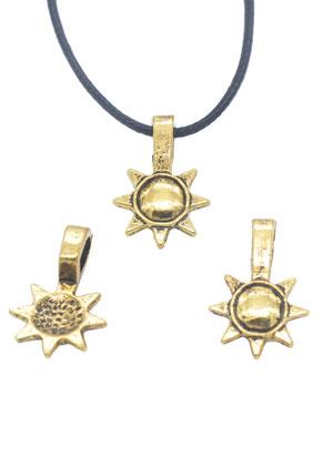 www.sayila.es - Colgantes/dijes de metal ojo para pegar (glue on bail) sol 19x12mm para piedra adhesiva