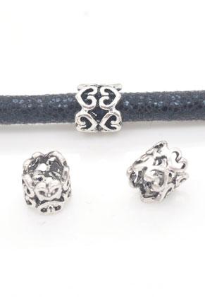 www.sayila.nl - Groot-gat-style metalen kralen hartjes 8mm