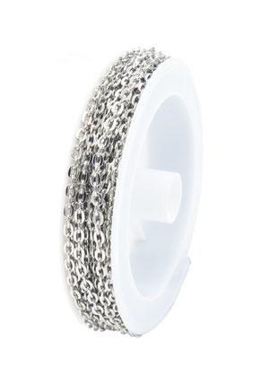 www.sayila-perlen.de - Metall Kette mit 4x3mm Glieder (5 meter pro Rolle)