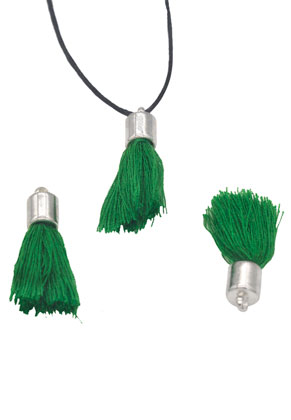 www.sayila.com - Textile tassels with cap 30x10mm