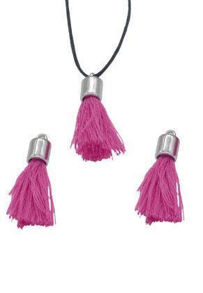 www.sayila.fr - Pompons en textile avec calotte 30x10mm