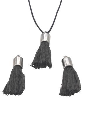 www.sayila.com - Textile tassels with cap 30x10mm