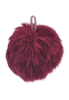 www.sayila.com - Fluff balls with elastic loop 65mm