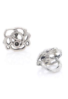 www.sayila.fr - Style grand-trou perles en métal rose 12x10mm avec cadre pour 2mm imitation de diamant