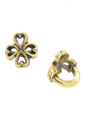 www.sayila.fr - Style grand-trou perles en métal trèfle à quatre feuilles 10x9mm