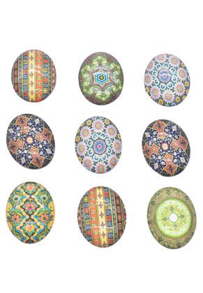 www.sayila.nl - Mix glas plakstenen/cabochon ovaal 40x30mm