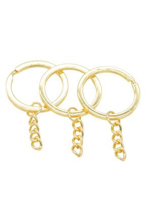 www.sayila.fr - Anneaux pour porte-clés en métal avec chaîne 53x30mm