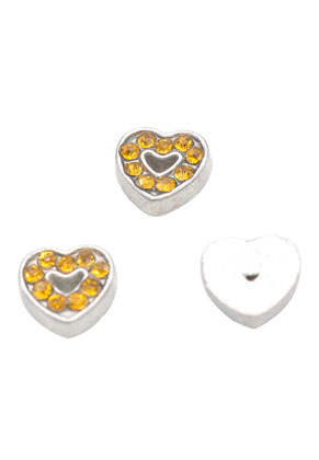 www.sayila.es - Floating Charms de metal corazón con strass 7mm