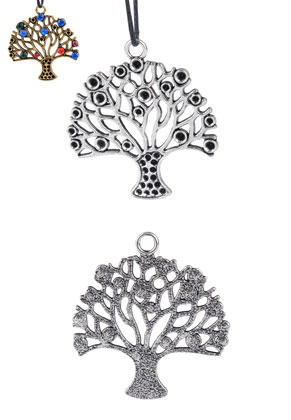 www.sayila.com - Metal pendants tree 45x42mm with settings for 2mm and 3mm pointed backs