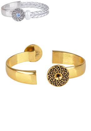 www.sayila.es - Cierres pulsera brazalete semiabierta de metal 59x17mm con cuadro para 4mm imitacion de diamante