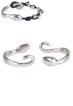 www.sayila.be - Metalen half-open cuff armband sluitingen slang 53x13mm met kastje voor 2,5mm similisteen