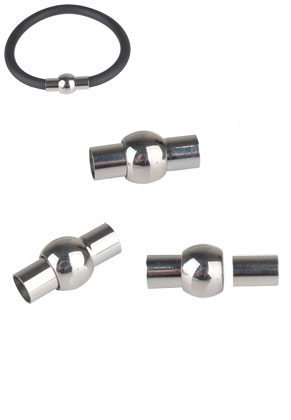 www.sayila.com - Stainless steel magnetic clasps 17x9mm