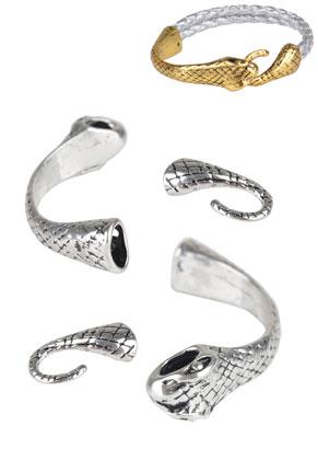 www.sayila.es - Conectores/cierres de metal serpiente 60x12mm