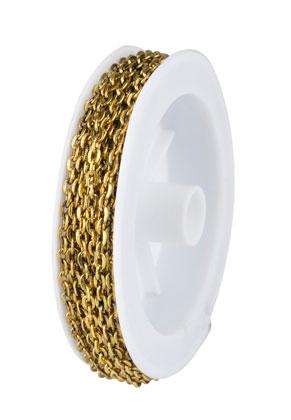 www.sayila.nl - Metalen ketting met 4x3mm schakels (5 meter per rol)