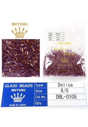 www.sayila.es - Miyuki Delica Beads rocailles de vidrio 8/0 3x2,7mm DBL-0108 (1500 pzs.)