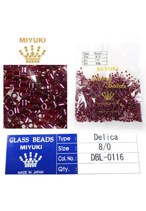 www.sayila.nl - Miyuki Delica Beads glas rocailles 8/0 3x2,7mm DBL-0116 (1500 st.)