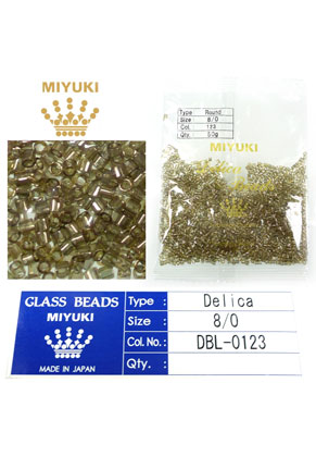 www.sayila.fr - Miyuki Delica Beads rocailles en verre 8/0 3x2,7mm DBL-0123 (1500 pcs.)