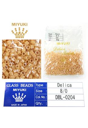 www.sayila.com - Miyuki Delica Beads glass seed beads 8/0 3x2,7mm DBL-0204 (1500 pcs.)