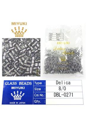 www.sayila.fr - Miyuki Delica Beads rocailles en verre 8/0 3x2,7mm DBL-0271 (1500 pcs.)
