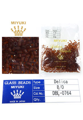 www.sayila.fr - Miyuki Delica Beads rocailles en verre 8/0 3x2,7mm DBL-0764 (1500 pcs.)