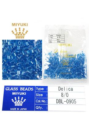 www.sayila.fr - Miyuki Delica Beads rocailles en verre 8/0 3x2,7mm DBL-0905 (1500 pcs.)