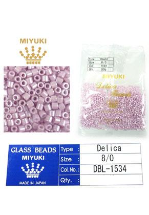 www.sayila.es - Miyuki Delica Beads rocallas de vidrio 8/0 3x2,7mm DBL-1534 (1500 pzs.)