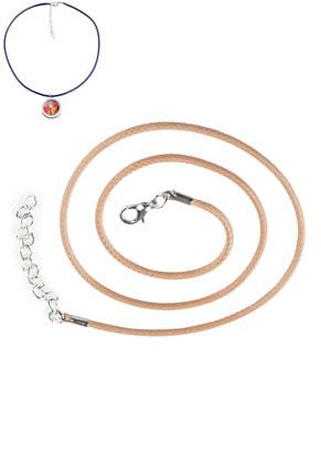 www.sayila.be - Waxkoord halskettingen met metalen sluiting 50cm, 1,5mm dik
