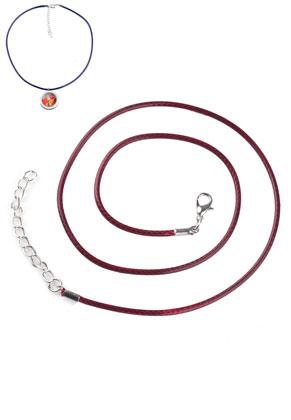 www.sayila-perlen.de - Wachsschnur Halsketten mit Metallverschluß 51cm, 2mm Umfang
