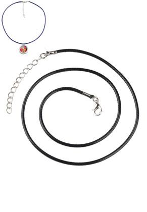 www.sayila-perlen.de - Wachsschnur Halsketten mit Metallverschluß 50cm, 1,5mm Umfang