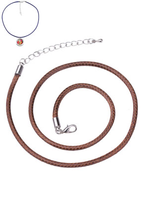 www.sayila.nl - Waxkoord halskettingen met metalen sluiting 53cm, 3mm dik
