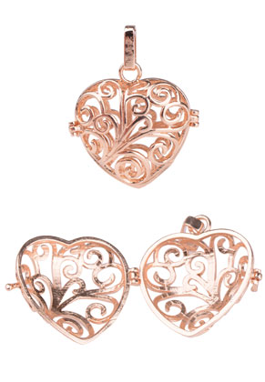 www.sayila.com - Metal pendant angel caller/Prayer Box heart 39x31mm