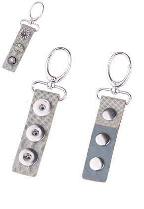 www.sayila.com - DoubleBeads EasyButton size L leather key fob 14x4cm