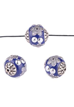 www.sayila.be - Metalen Kashmiri kralen met polymeerklei rond 19mm