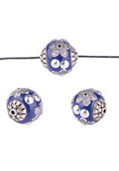 www.sayila.es - Abalorios Kashmiri de metal con barro arcilla polimérica redondo 19mm - D21568