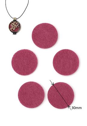 www.sayila.com - Felt Doublebeads EasySwitch discs/perfume pads round 30mm