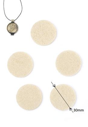 www.sayila.co.uk - Felt Doublebeads EasySwitch discs/perfume pads round 30mm