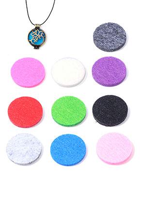 www.sayila.com - Mix felt Doublebeads EasySwitch discs/perfume pads round 30mm