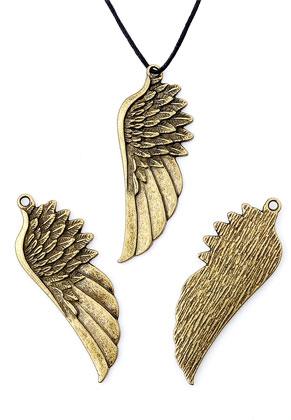 www.sayila-perlen.de - Metallanhänger Flügel 58x22mm
