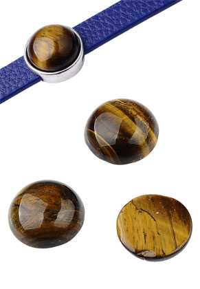 www.sayila.co.uk - Natural stone flat backs/cabochons round Tiger Eye 15mm