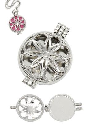 www.sayila.com - Metal DoubleBeads EasySwitch pendant/perfume locket 44x33mm for 30mm EasySwitch stone