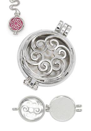 www.sayila.nl - Metalen DoubleBeads EasySwitch hanger/parfum medaillon 44x33mm voor 30mm EasySwitch steen