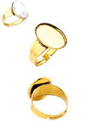 www.sayila.com - Metal rings >= Ø 19mm with setting for 18x13mm flatback - D21789