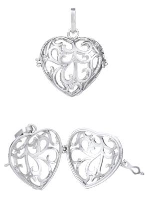 www.sayila.com - Metal pendant angel caller/Prayer Box heart 40x29mm
