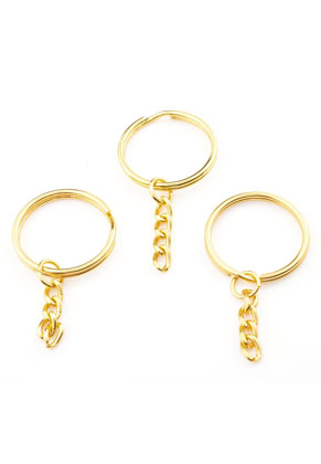 www.sayila.fr - Anneau pour porte-clés en métal avec chaîne 55x28mm